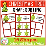 Shape Sorting Mats: Christmas Tree ~Digital Download~